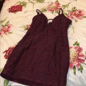 Tobi Maroon Dress